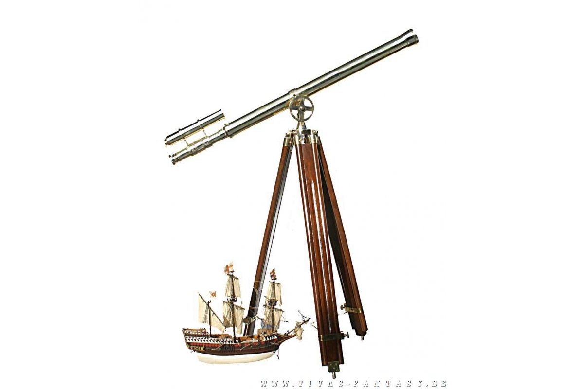 Großes hafenmeister teleskop mit stativ n u ac tiv